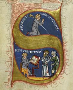 Schmuckinitiale aus dem Tennenbacher Güterbuch von 1341 (Signatur: Landesarchiv Baden-Württemberg, Generallandesarchiv Karlsruhe 66/8553).