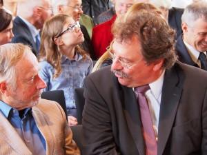 Westfalen hilft Köln: Prof. Rolf Escher im Gespräch mit Dr. Frank Bischoff (Präsident des Landesarchivs NRW)