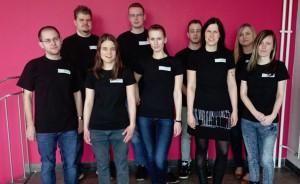 Archivtagblogger (v.l.n.r.): M. Wachnau, M. Anger, E. Bossmeyer, C. Haubrock, T. Doberstein, D. Goßens, S. Bruns, C. Höffgen, N. Kockentiedt