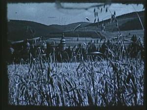 Schloss in Berleburg war ein beliebtes Postkartenmotiv und ist auch im Film oft zu sehen: hier malerisch über ein Kornfeld hinweg aufgenommen im Stil professioneller Werbefilme.