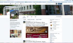 Ein weiterer Mulitplikator: Der Twitteraccount des LWL-Archivamts seit 2015.