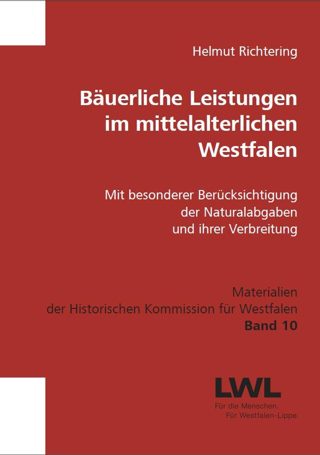 Titelbild Bäuerliche Leistungen im mittelalterlichen Westfalen
