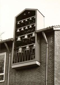 """Glockenspiel an der Außenseite des Gebäudes"""" (Quelle: LWL-Archivamt für Westfalen, Archiv LWL, Best. 115/644)"""