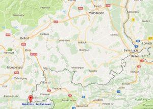 Geografische Lage der ehemaligen Herrschaft Montjoie