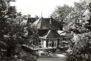 Der Holzpavillon vor dem Umbau