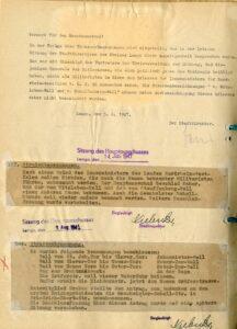 Umbenennung der nach Witzleben und Staufenberg benannten Wälle und Überlegungen zur Geschwister-Scholl-Straße, 1947 (StaL B 5518)