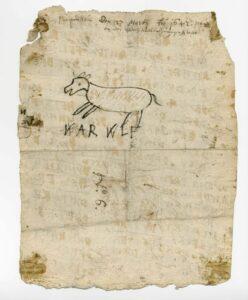 Schmähbrief Nr. 6 gegen David Welman, Original 1642 (Stadtarchiv Lemgo A 4694)