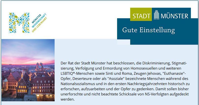 Projektstelle im Stadtarchiv Münster ausgeschrieben