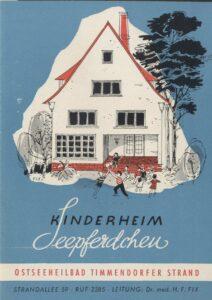 """Werbebroschüre für das Kinderheim """"Seepferdchen"""" aus"""